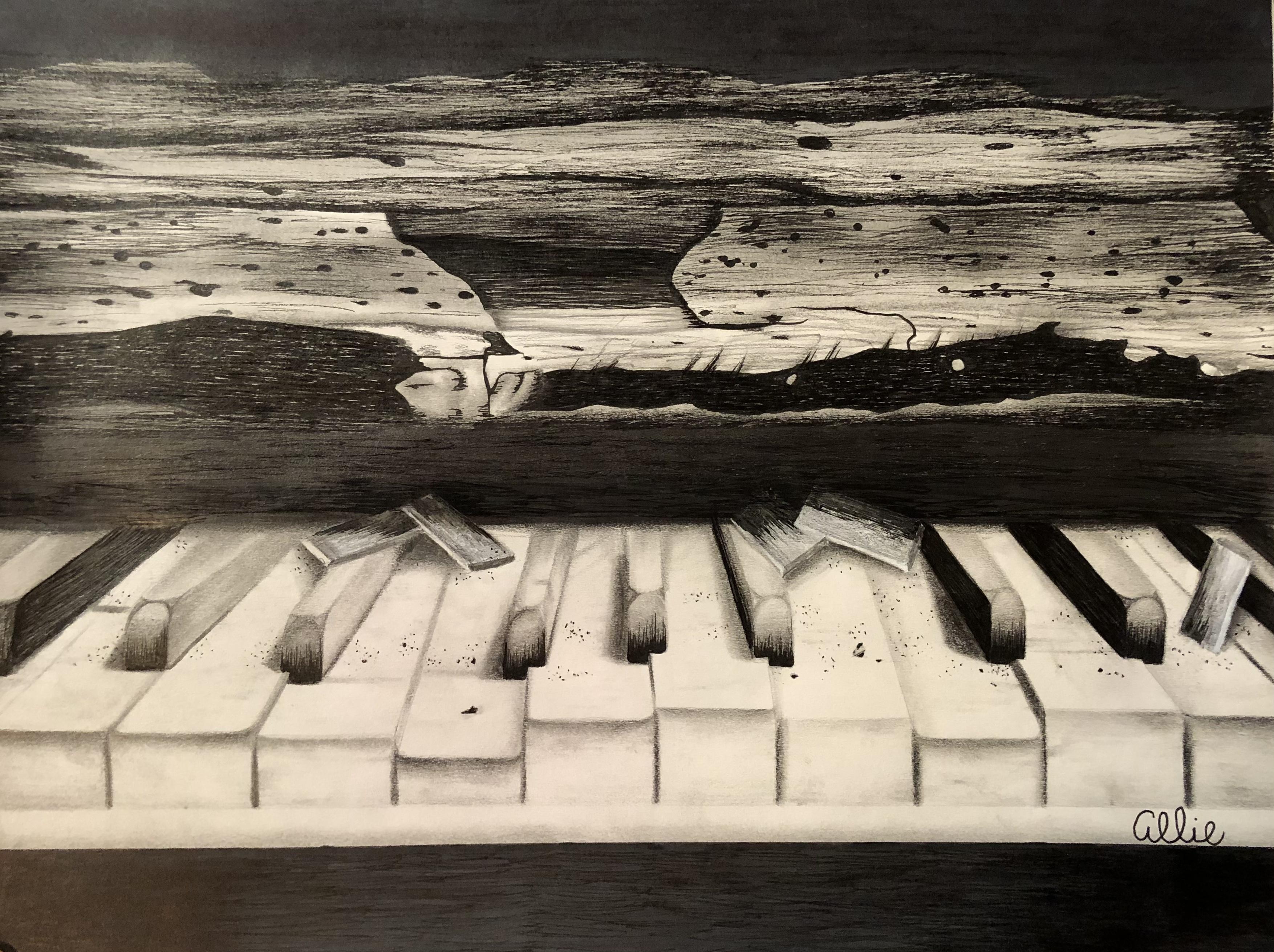 Sketchbook 13: Broken Piano
