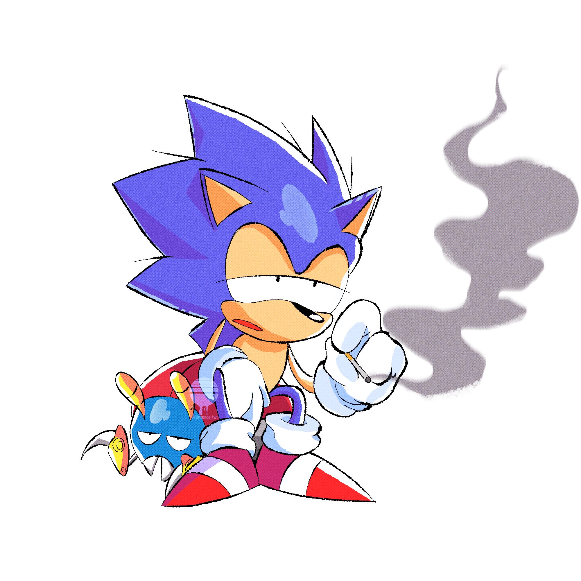 Sonic smoking a cig lmao