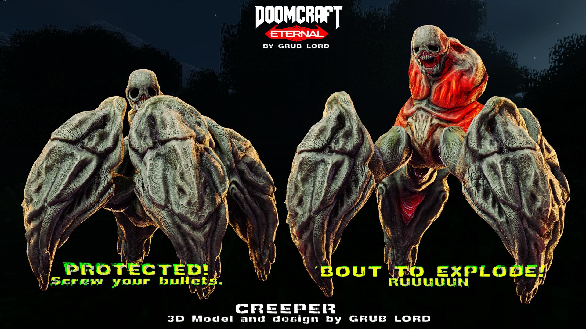 DOOMCRAFT ETERNAL - CREEPER // ACTIONS!