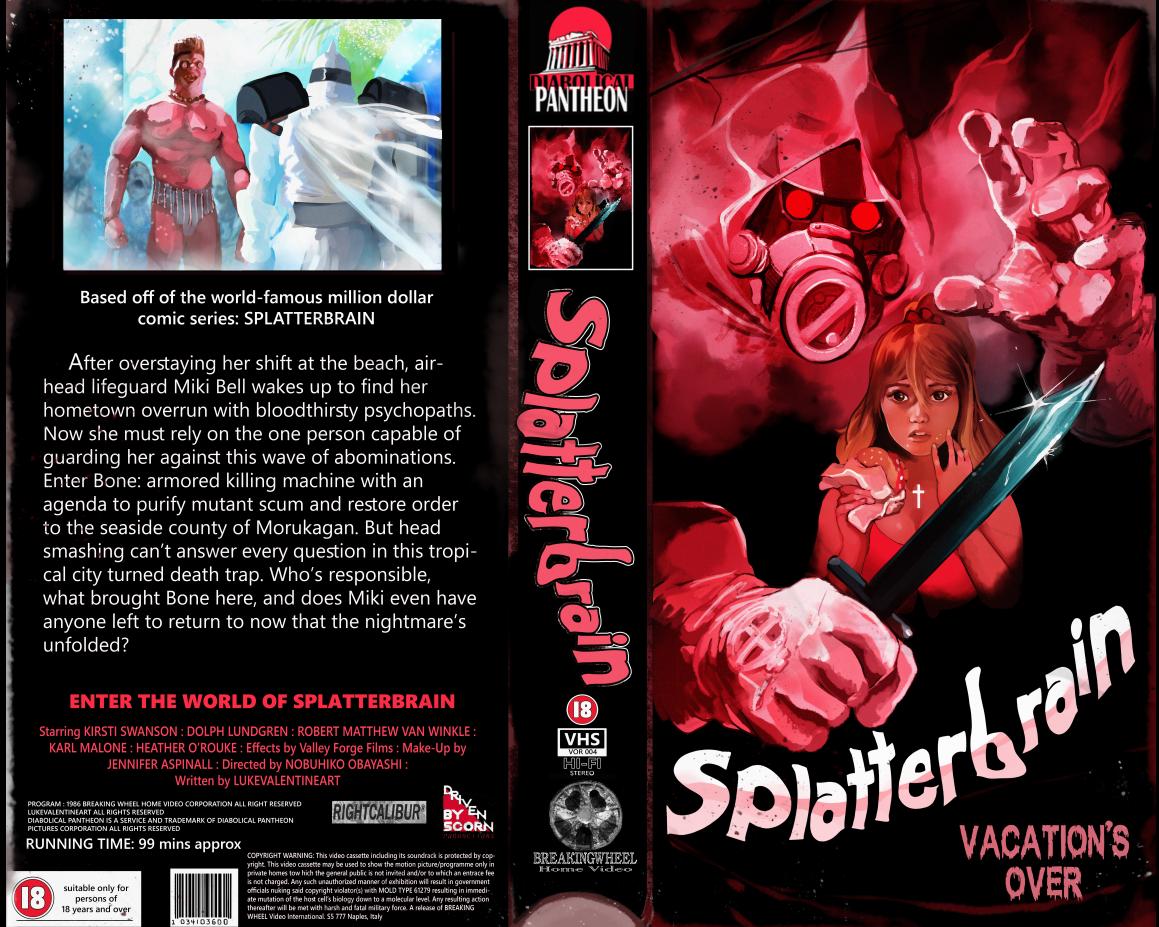 SPLATTERBRAIN on VHS