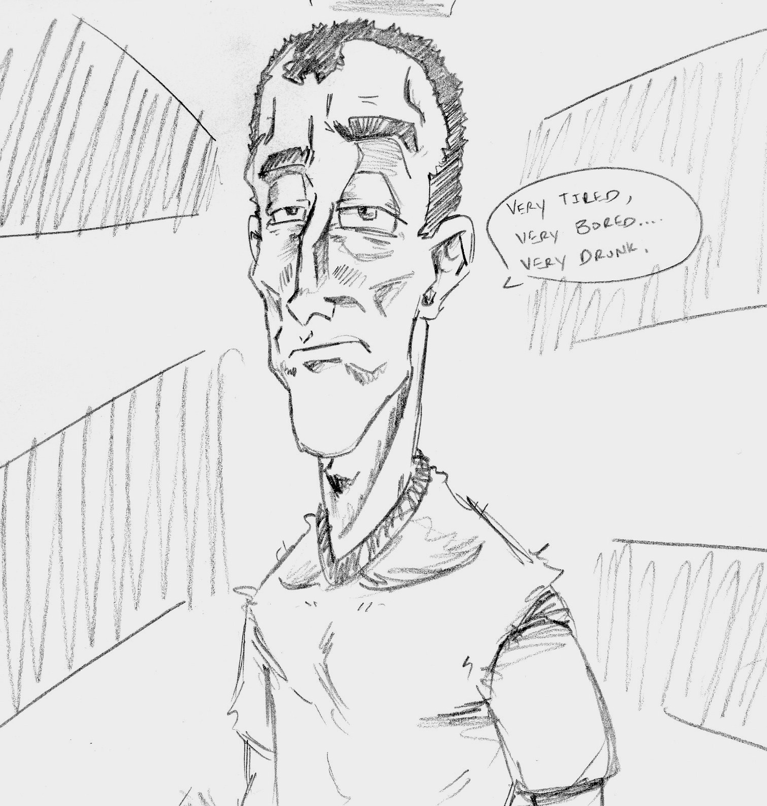 Self Portrait, heh.(I'm Drunk)