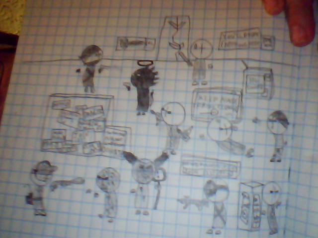 combat sketch