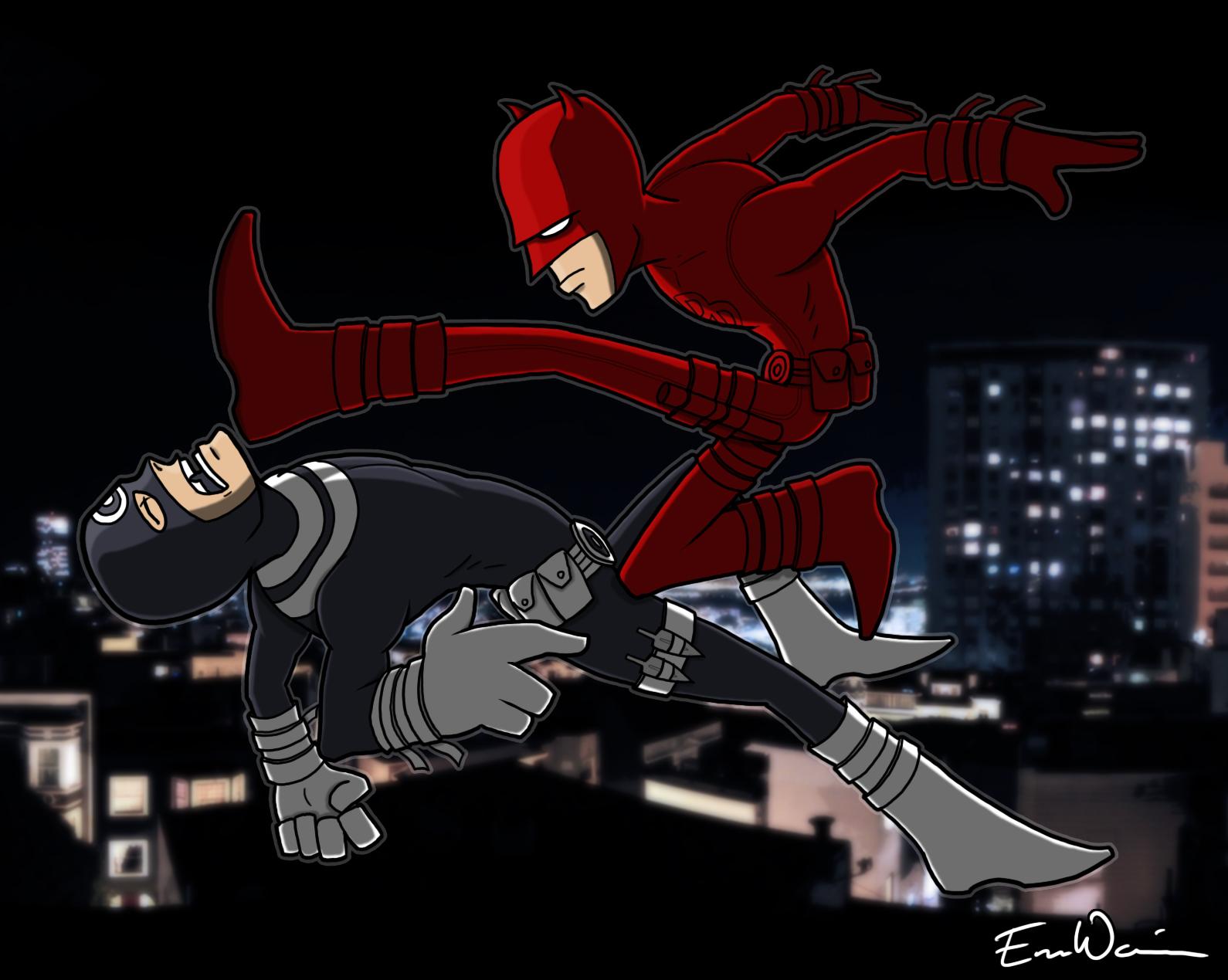 Daredevil kicks ass