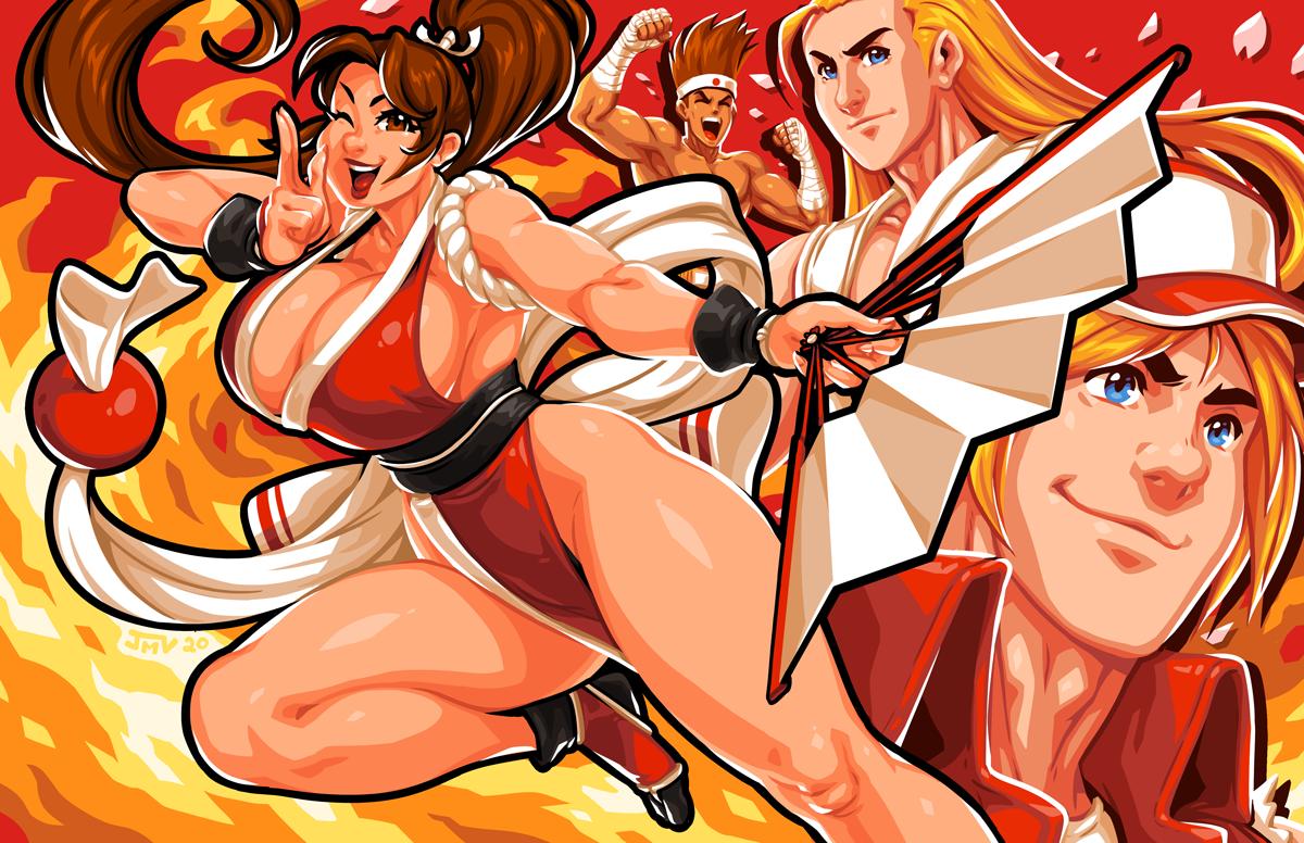 Fatal Fury - Mai Shiranui and Team Fatal Fury