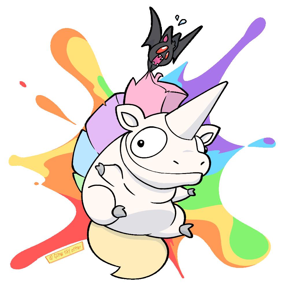 Rainbow Horse & Bitey Bat