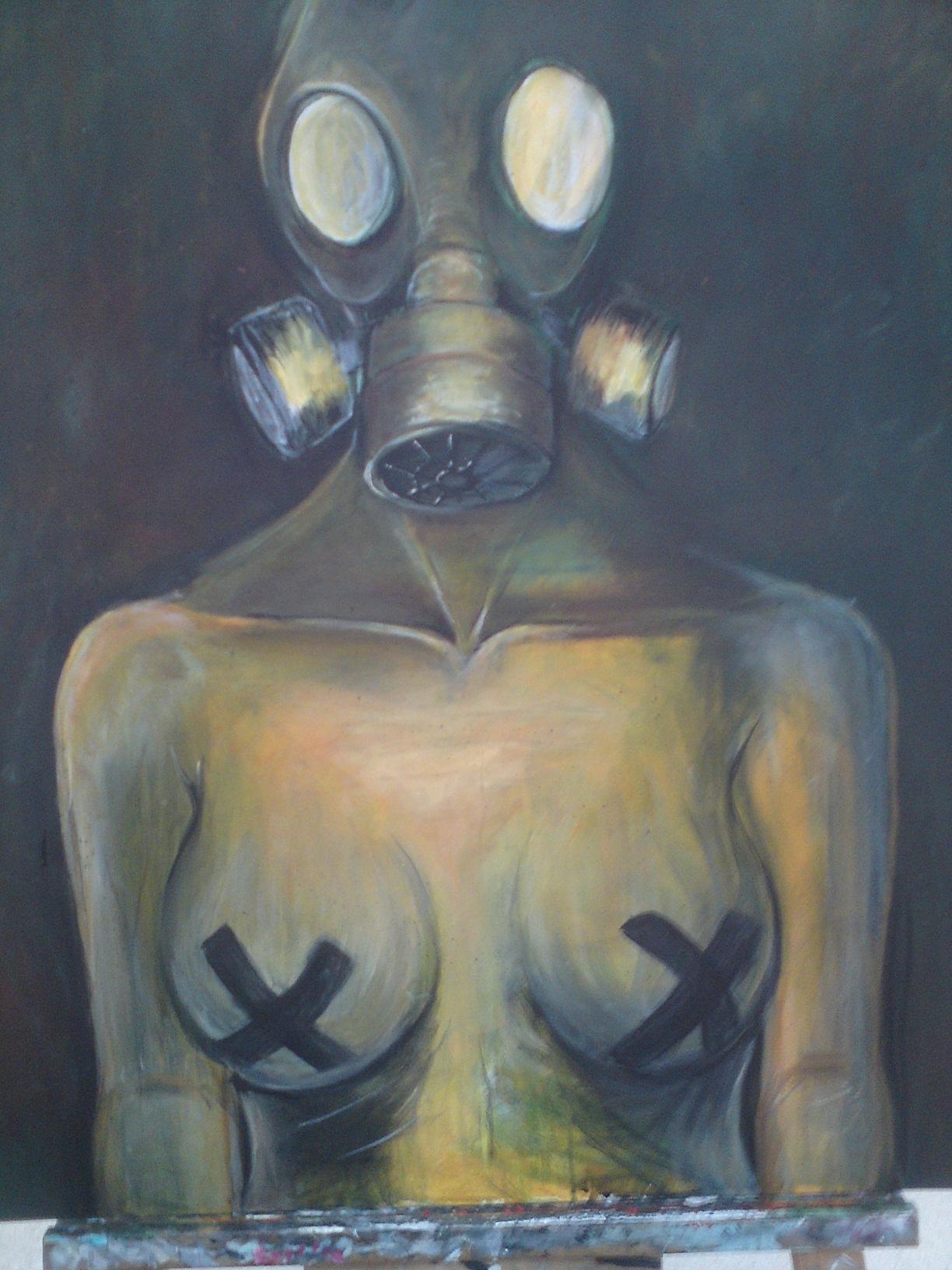 gasmask painting