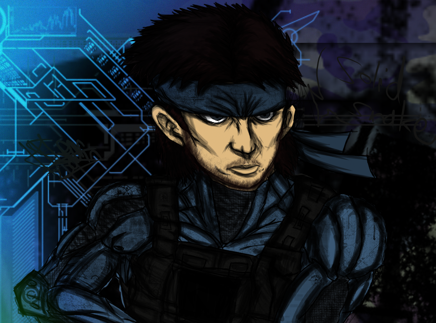 solid snake w/ octocamo