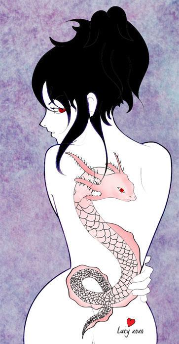 Girl with the Axolotl Tattoo