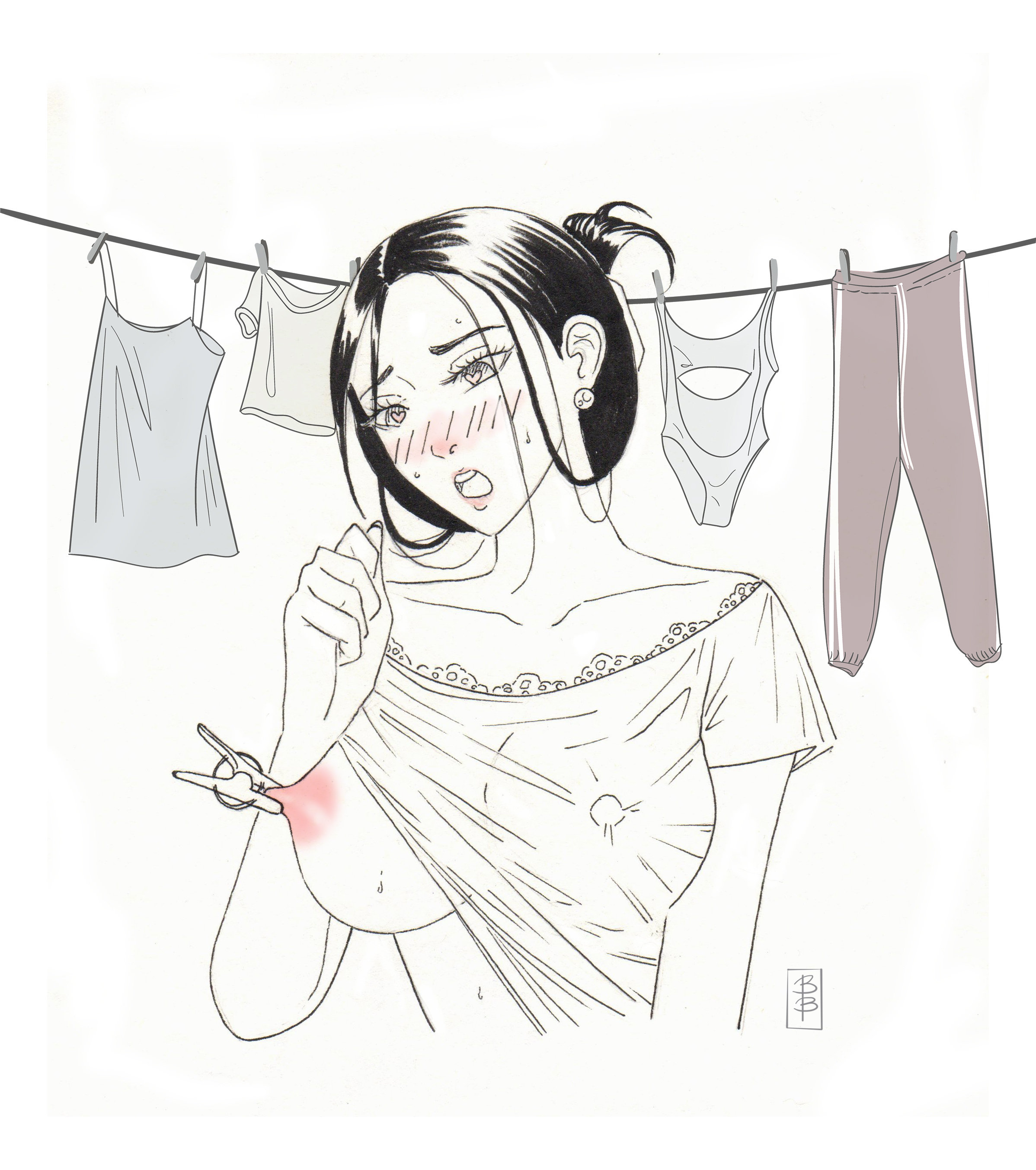 Coni Hanging Out the Laundry