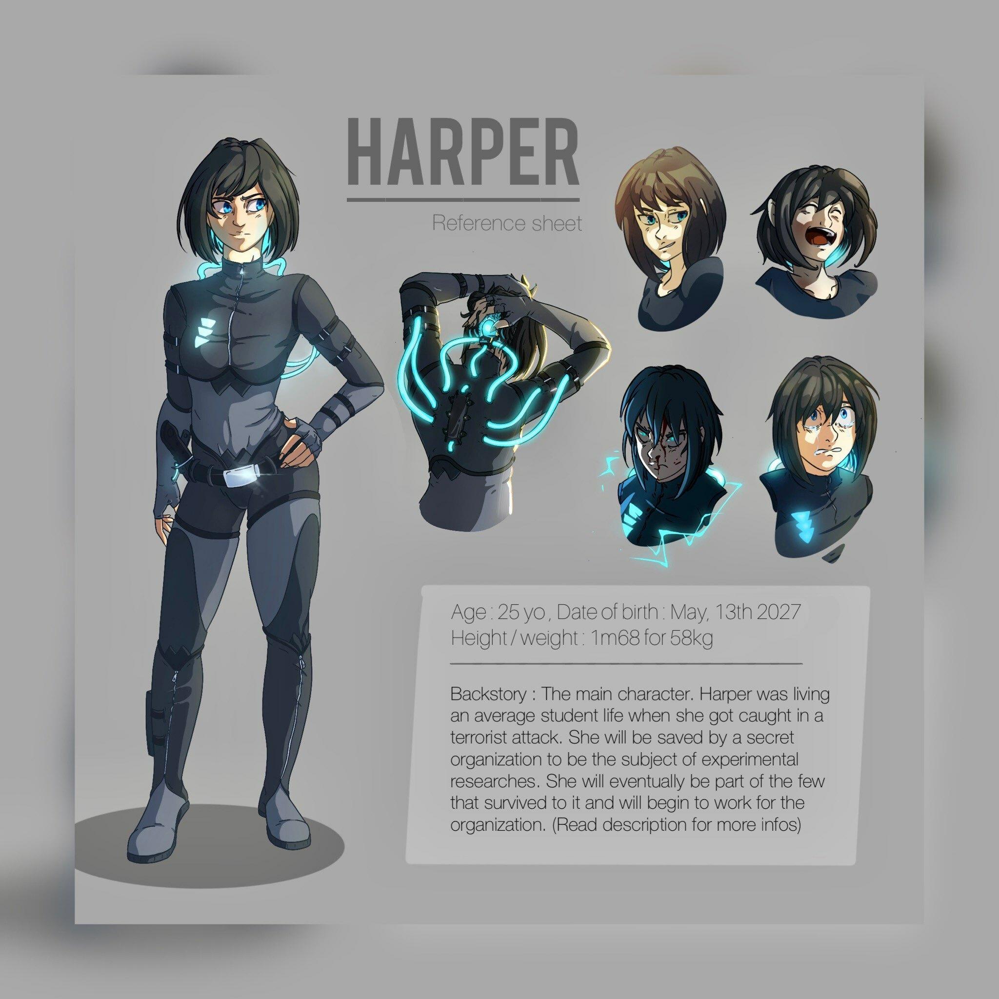 Harper - reference sheet