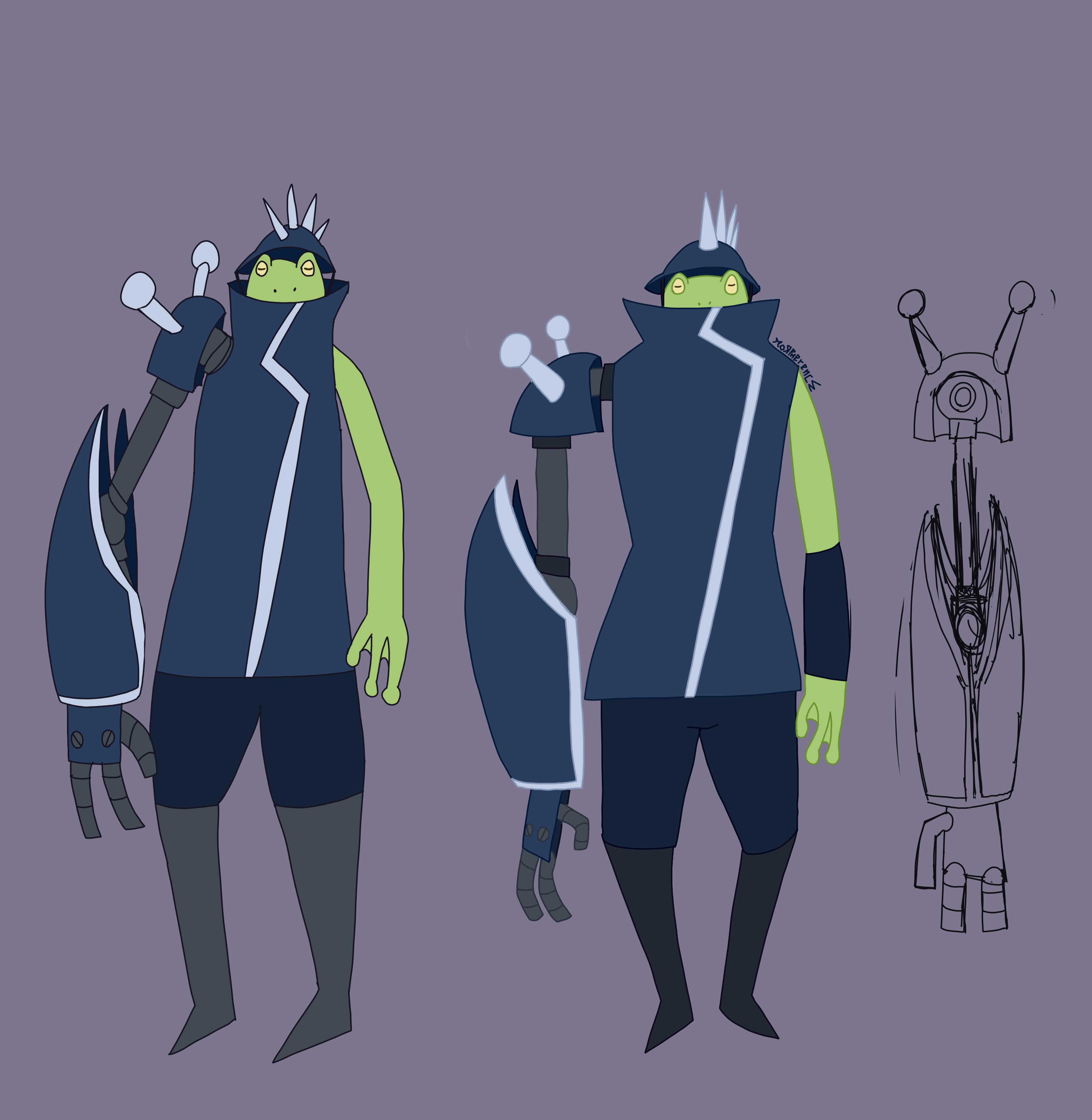OC unnamed frog guy