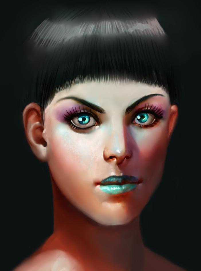 Teal Lipstick