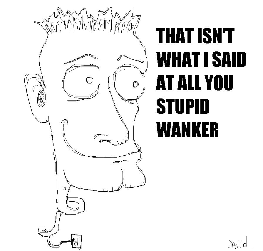 You stupid wanker