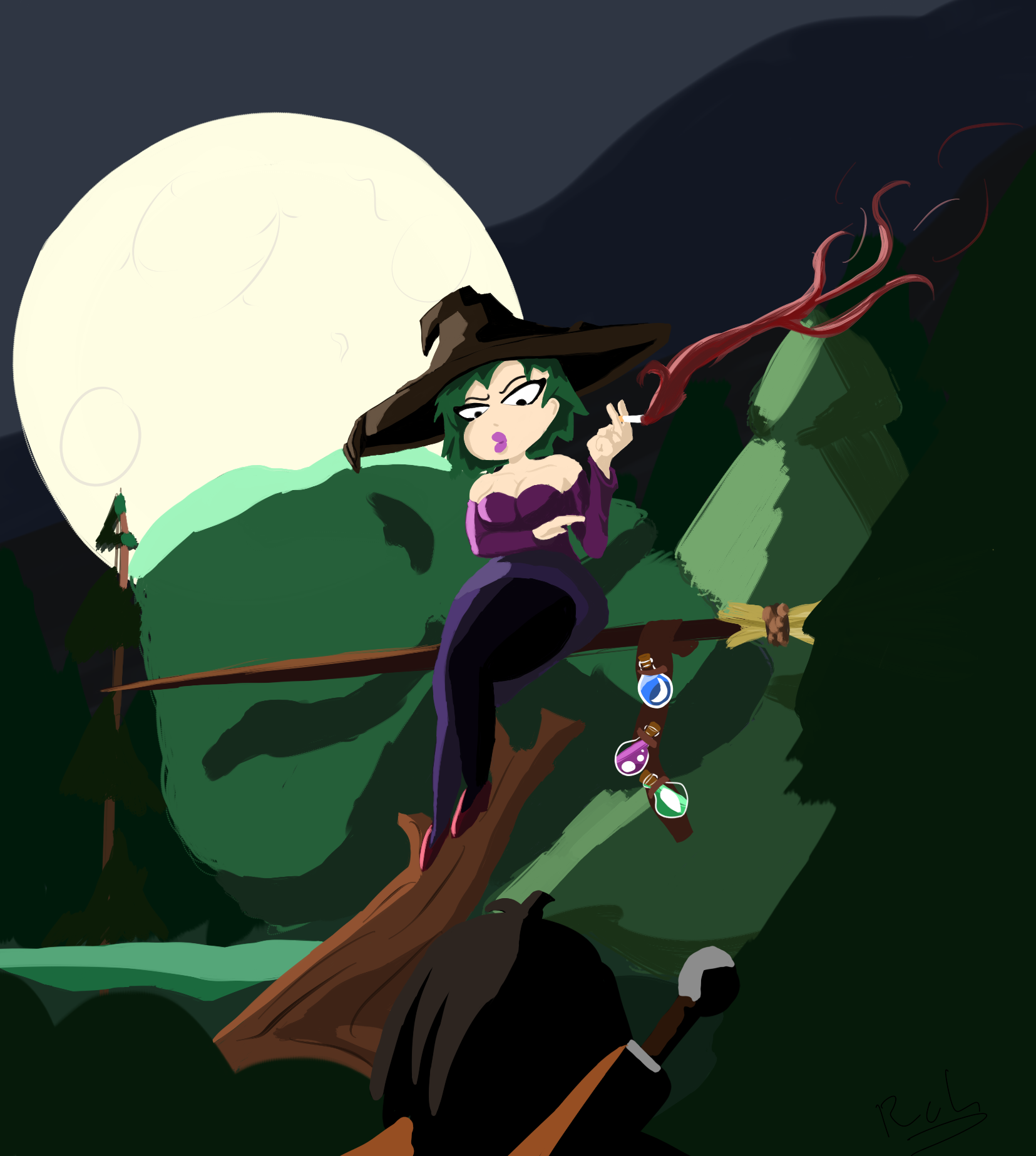 A midnight witch