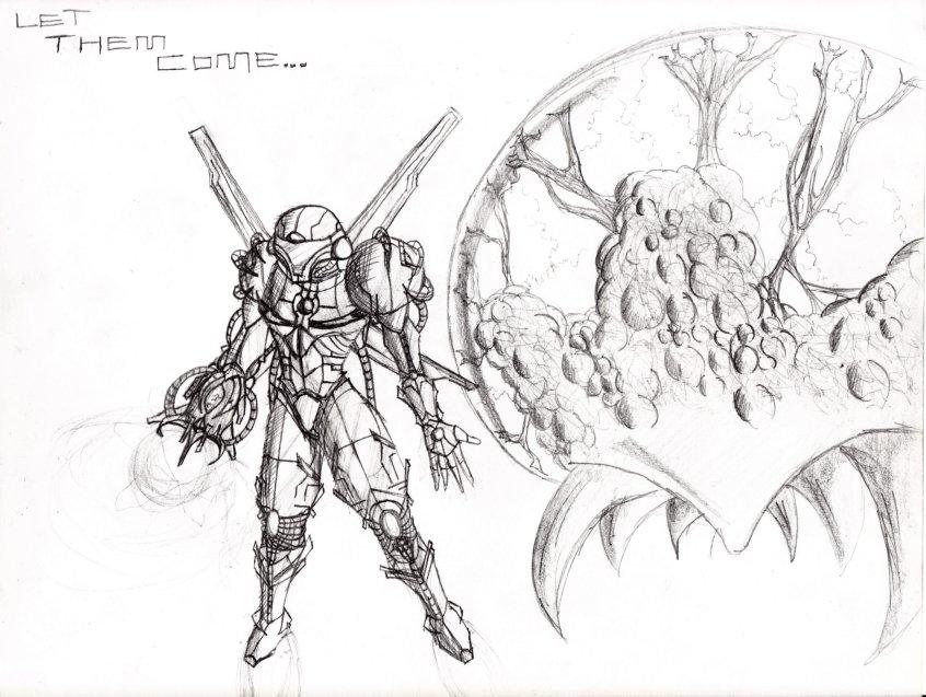 Metroid Sketch