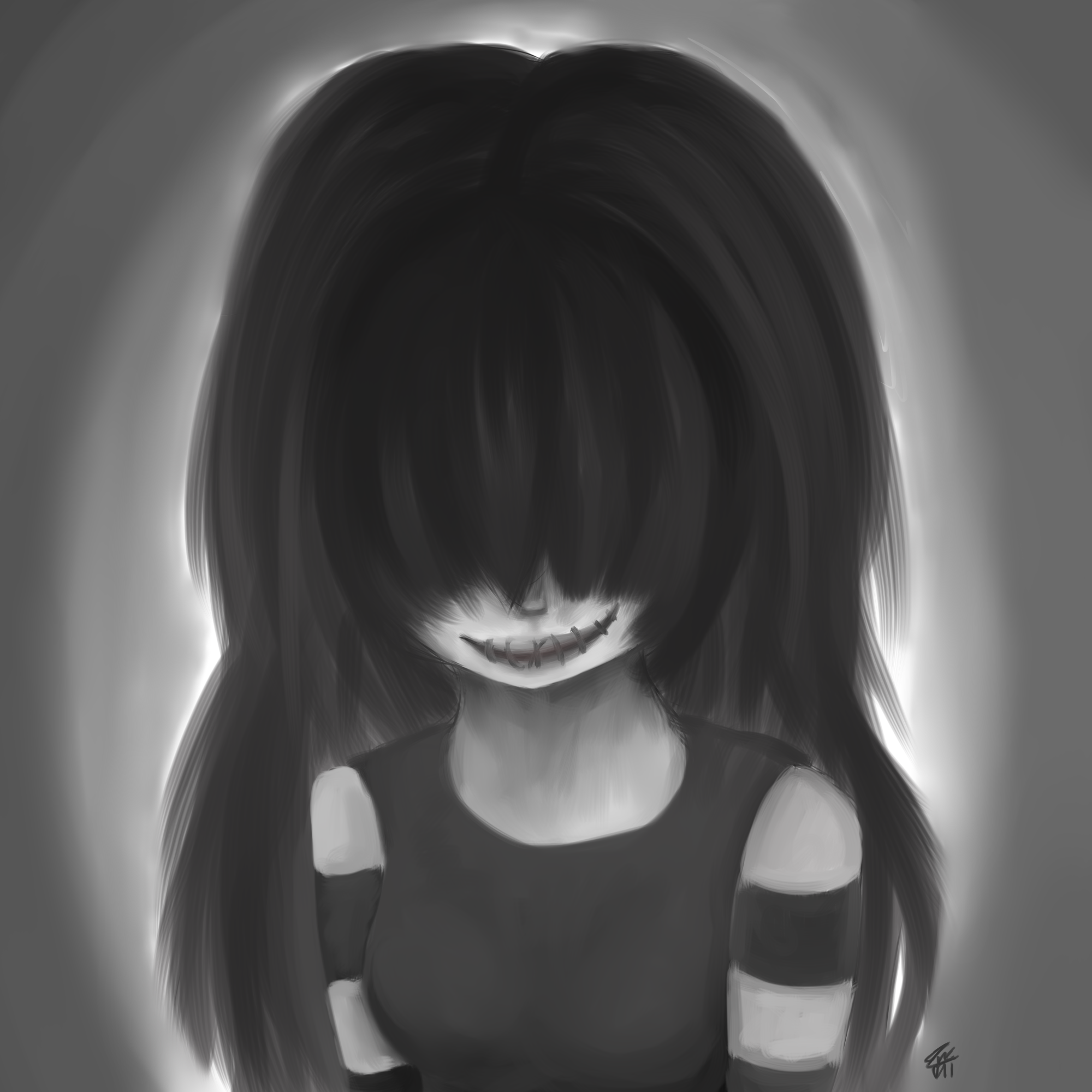 A Smile in Gray