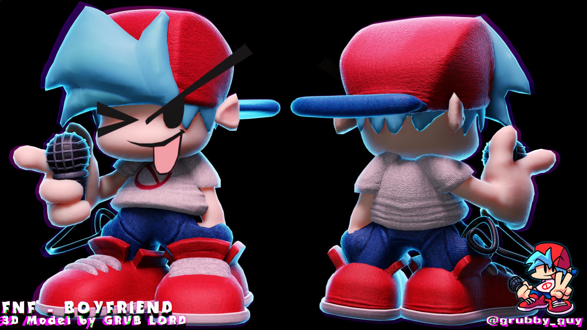 FNF - BOYFRIEND 3D MODEL!