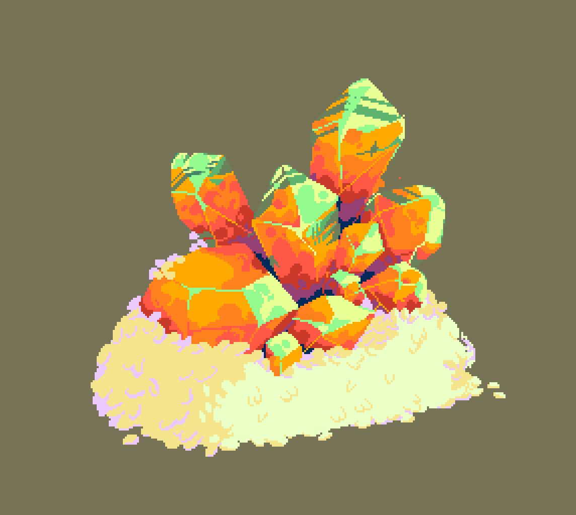 citrine quartz sushi