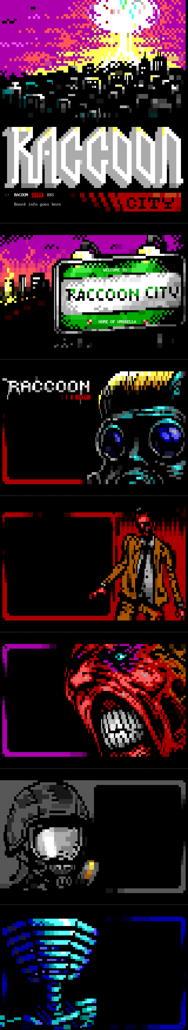 Raccoon City BBS Theme