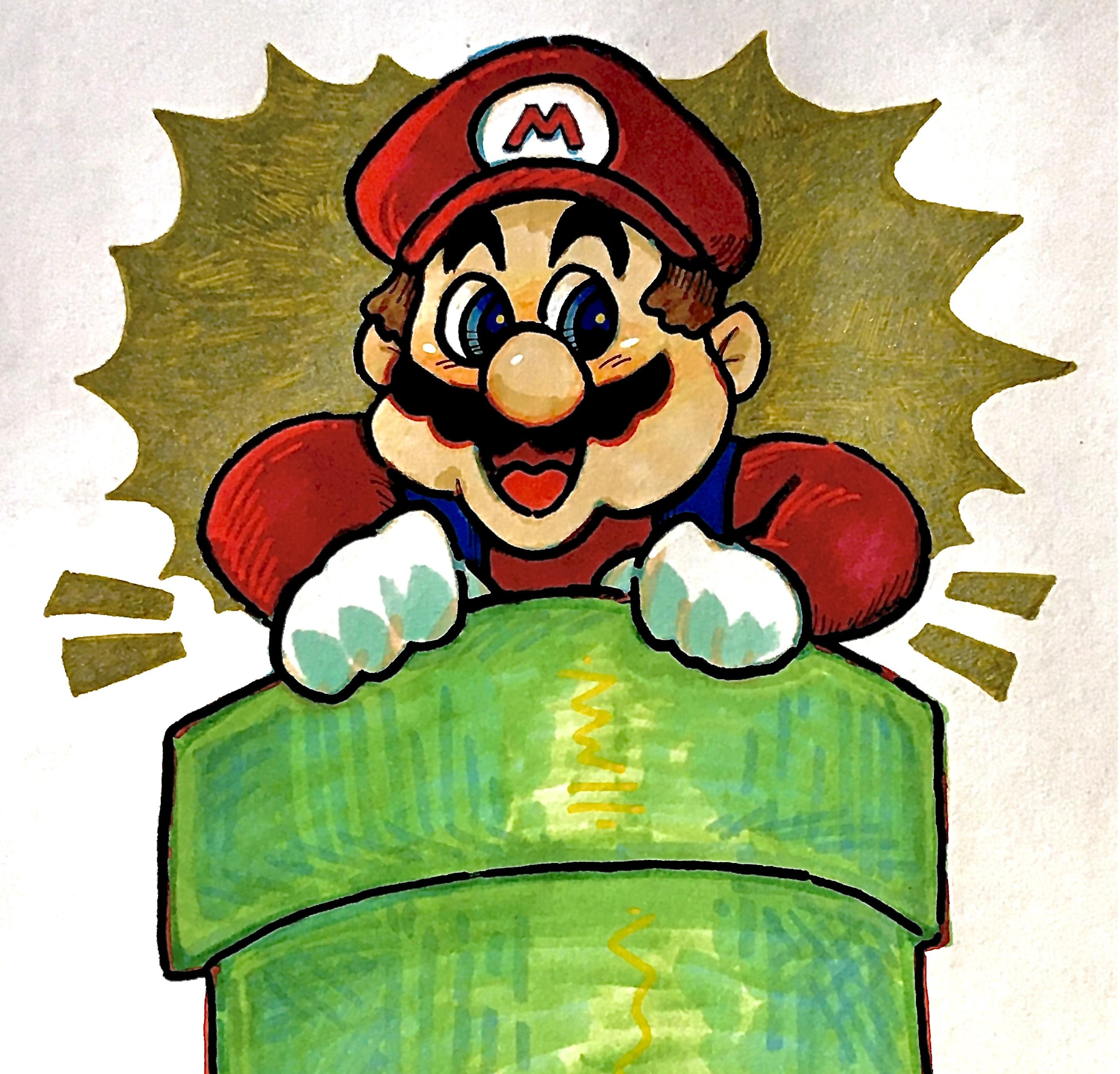 mario day drawing