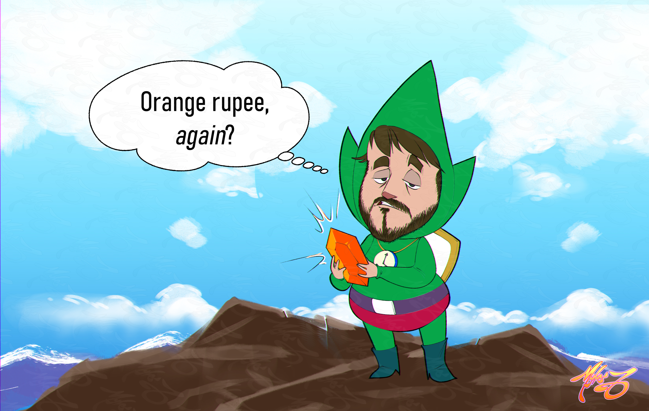Orange Rupee, Again - Vinesauce Fanart