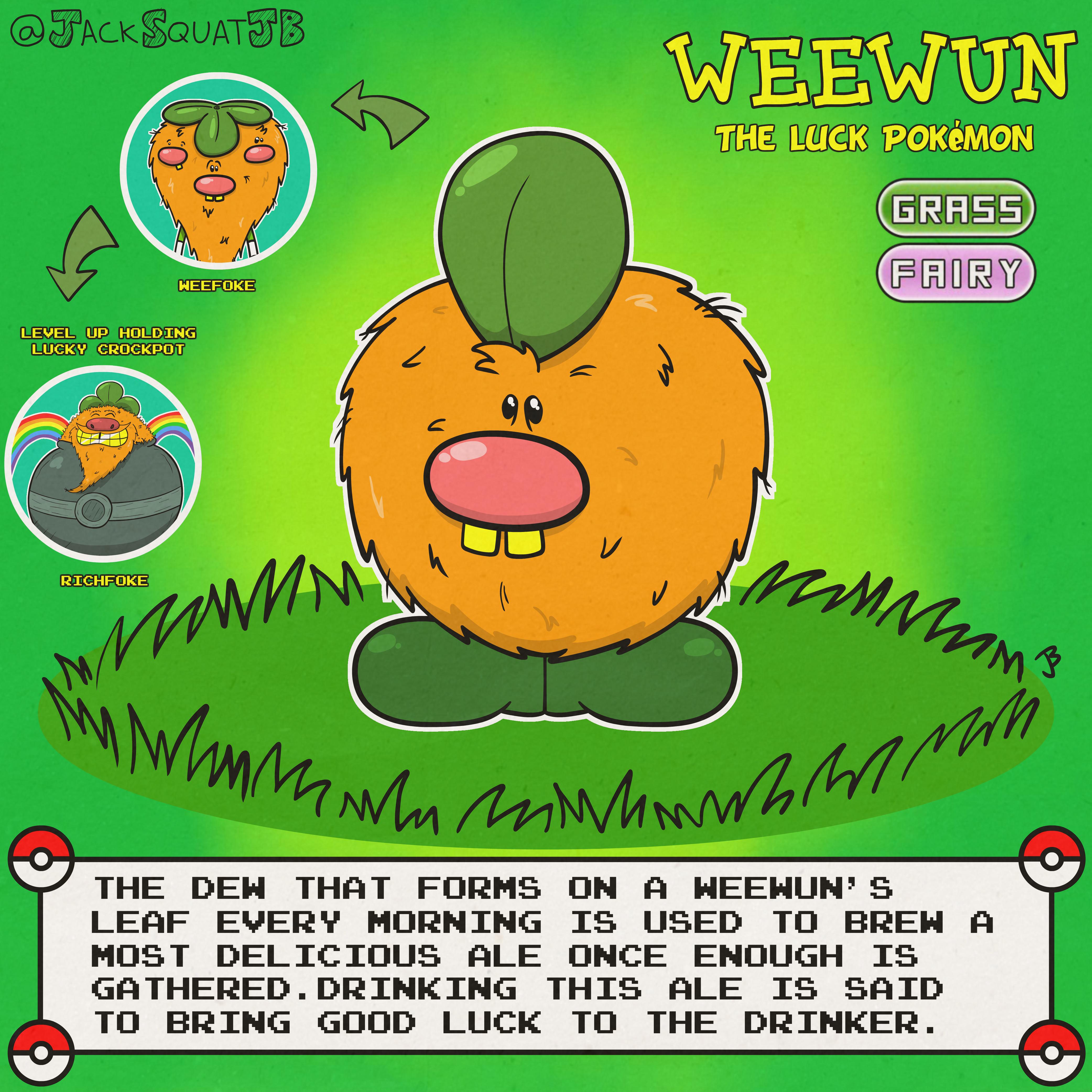 Weewun (Leprechaun Fakemon)