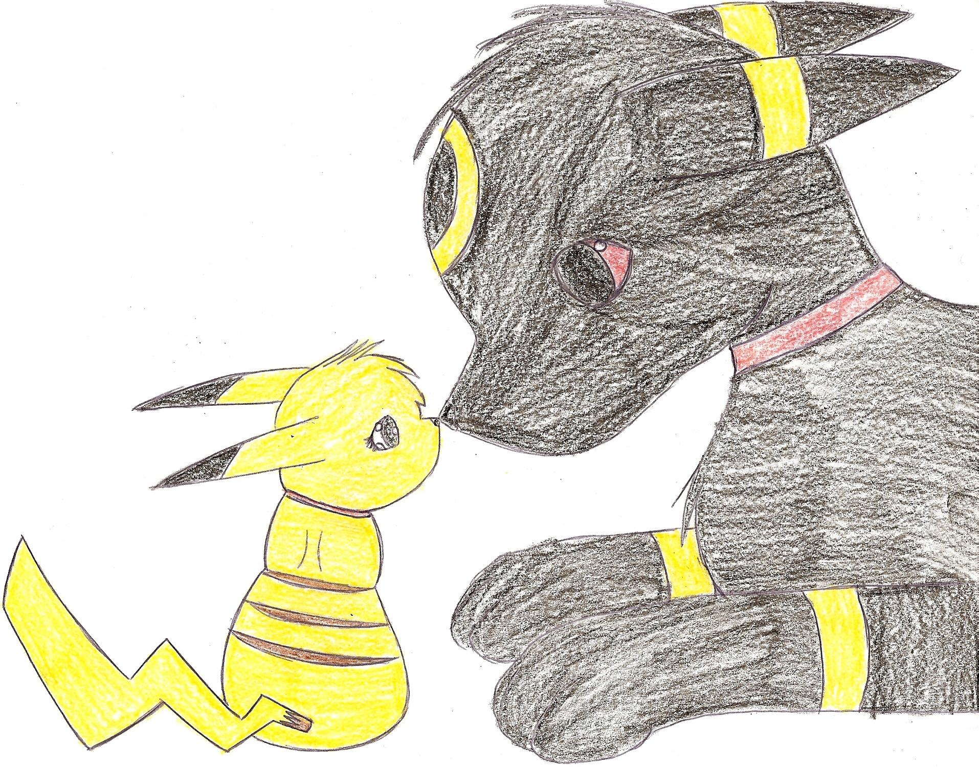 Umbreon and Pikachu