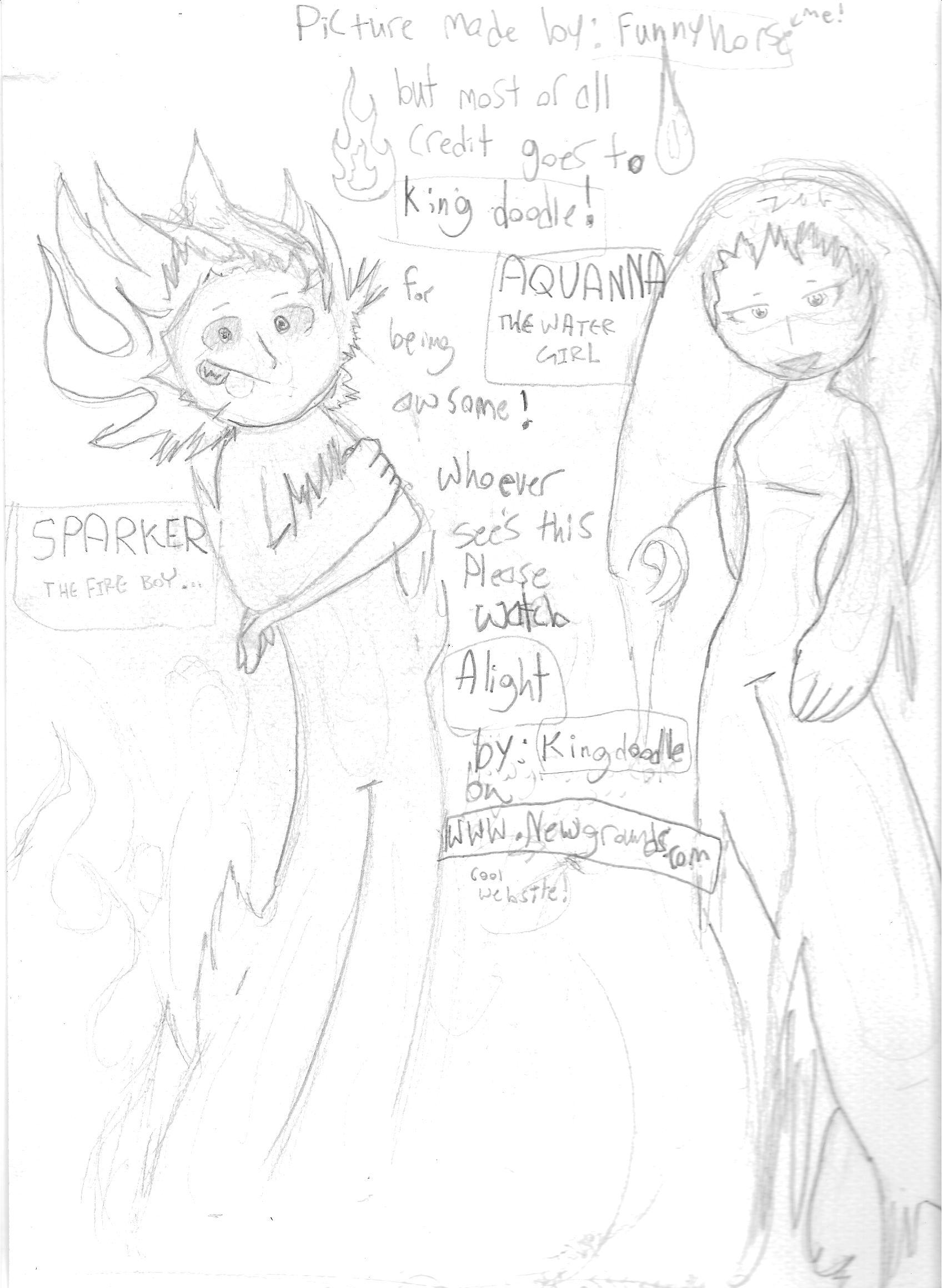 Aquanna and Sparker!