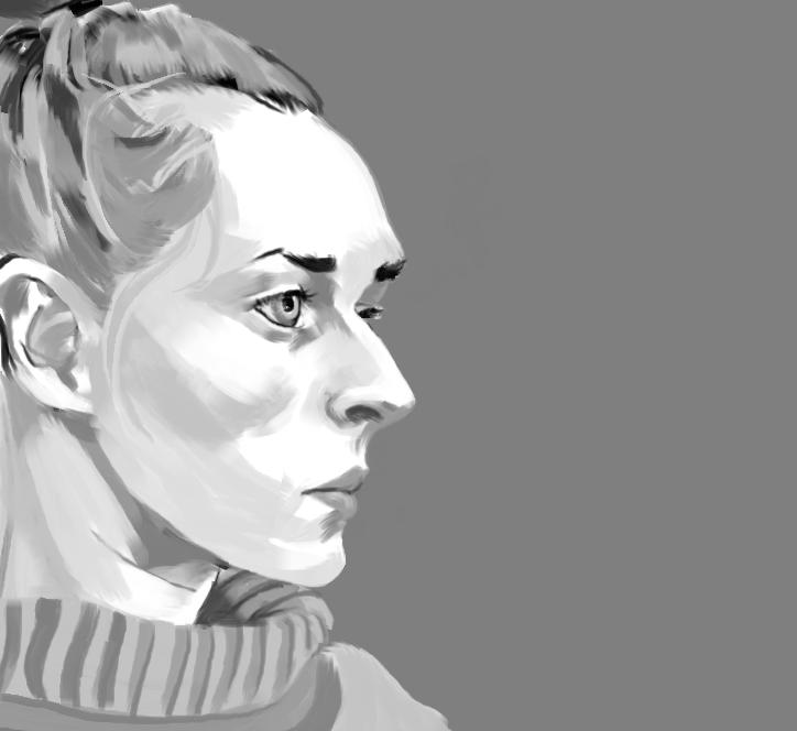women portrait practice (side face)