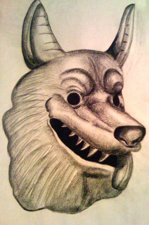 Panting Wolf