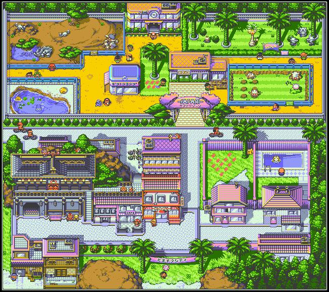 Kanto Redrawn - Fuschia City
