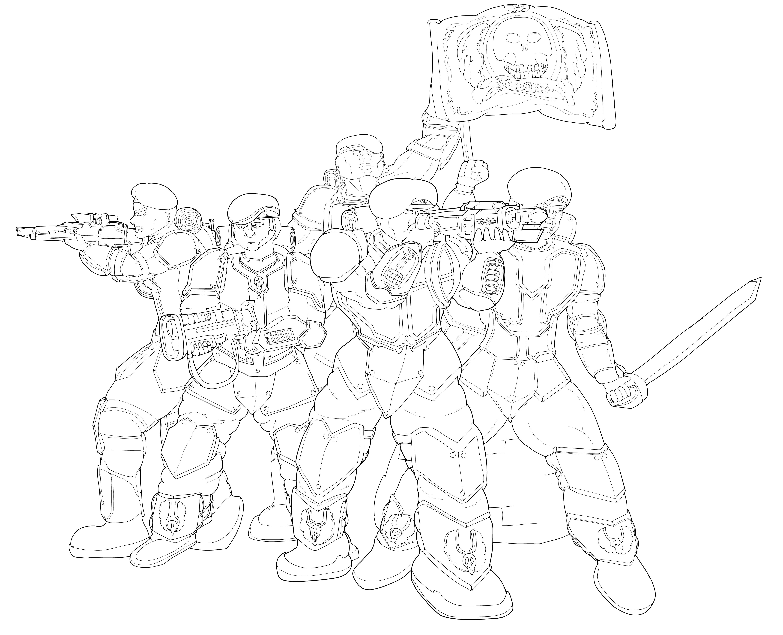 Tempestus scions command squad