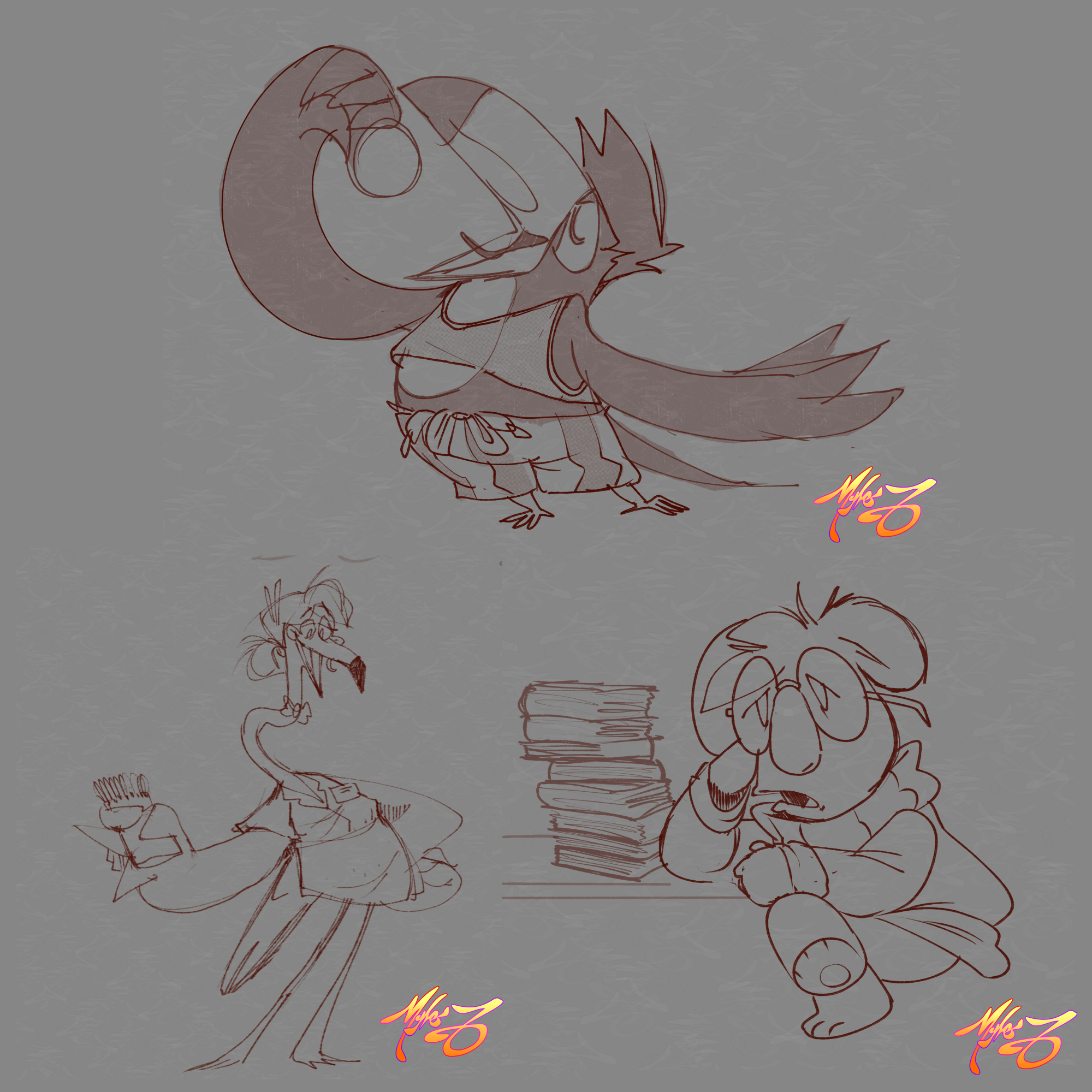 Various Character Design Sketches