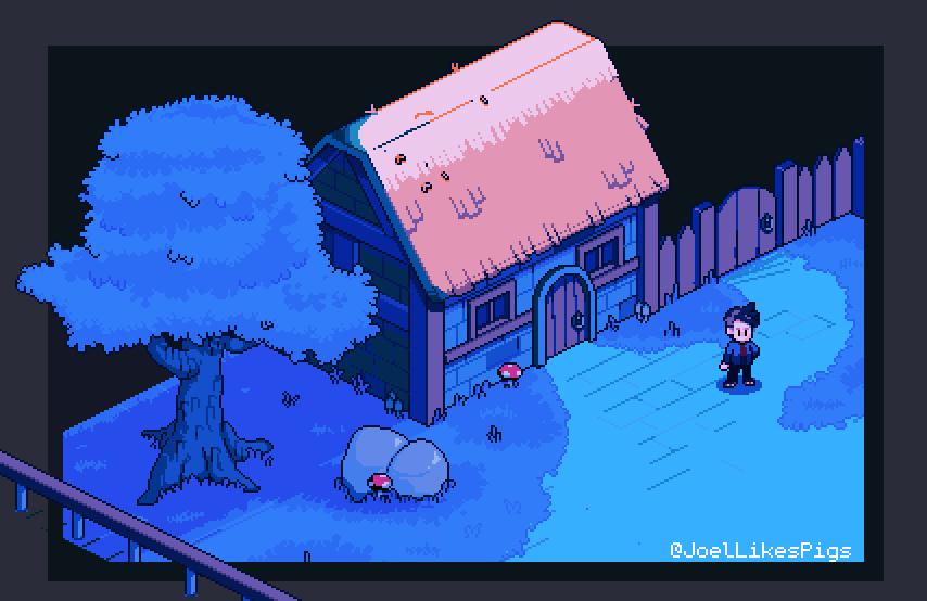 Nighttime House
