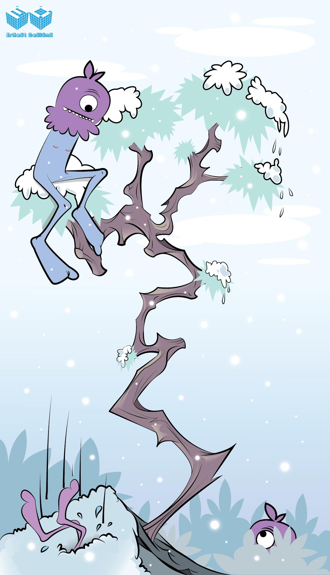 Furry bizzare purple winter