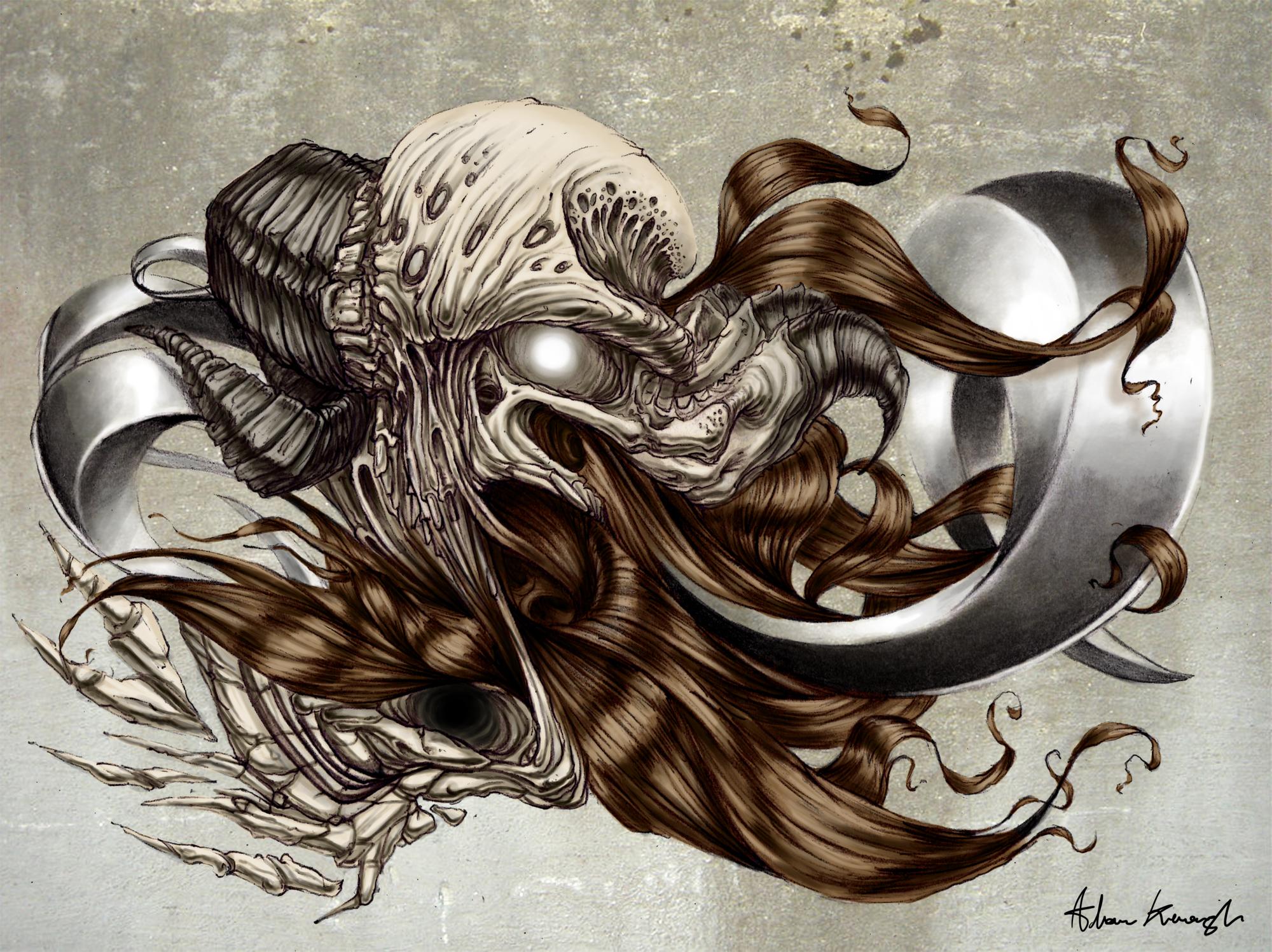 Hair, Bone and Metal