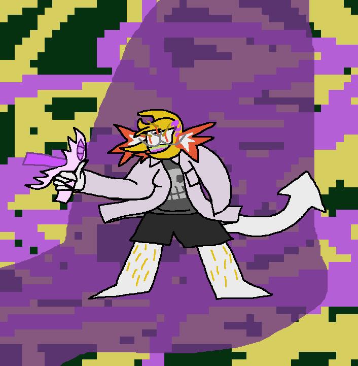 Sixx, axolotl OC & their associated dragon blaster