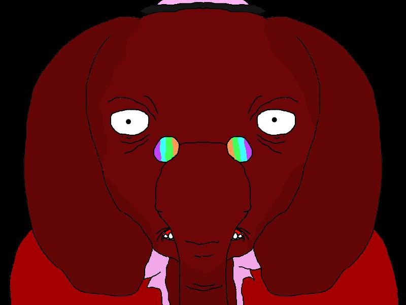 Elphennon Stare down