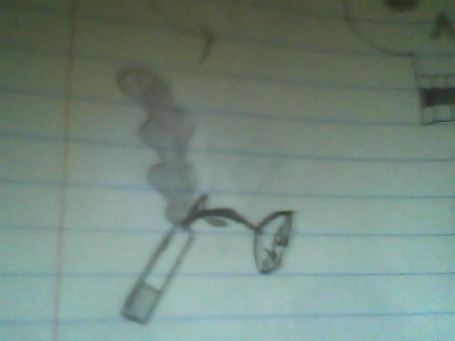 Rose in a cigarette