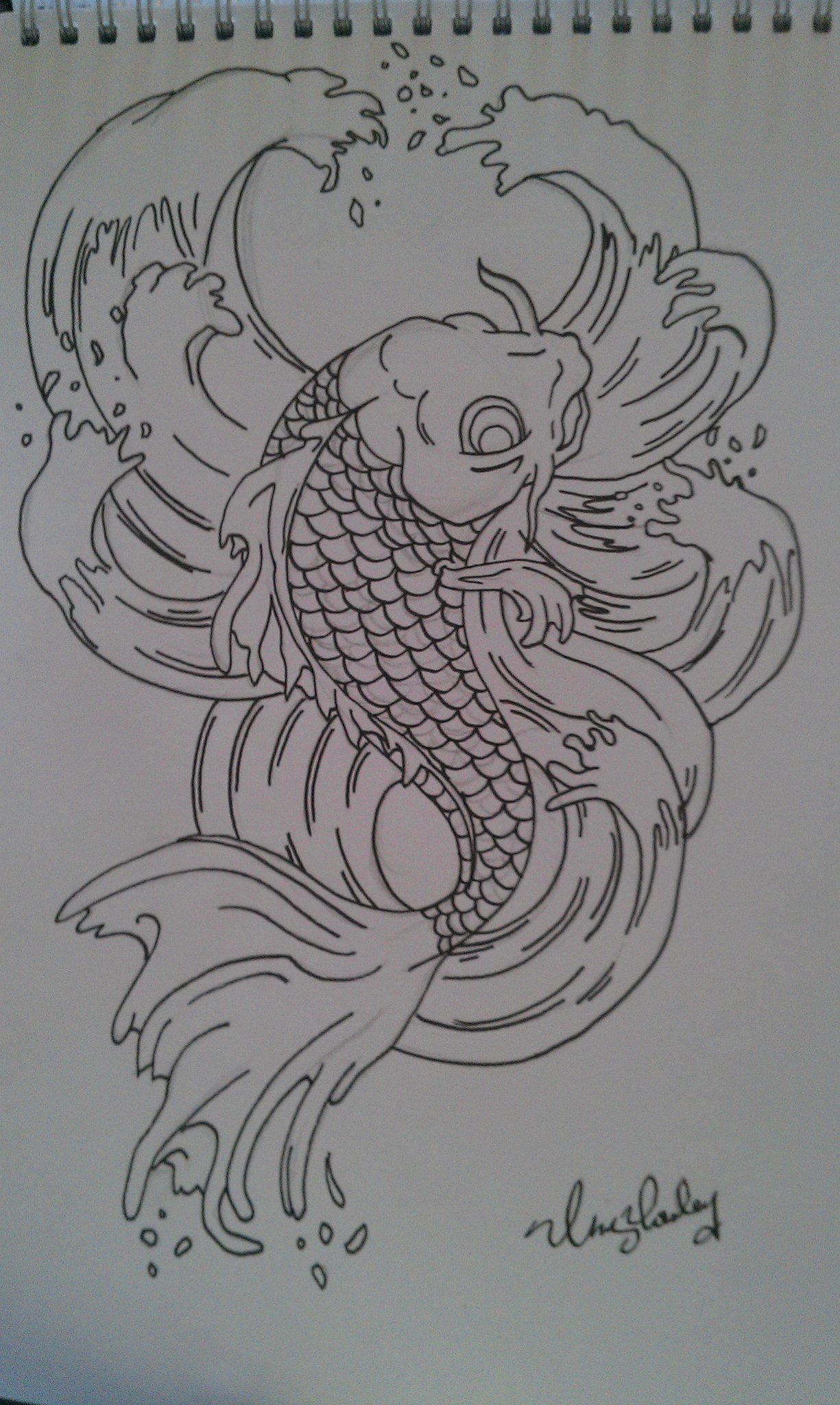 Koi Carp Tattoo Design By Chrisyrulz On Newgrounds