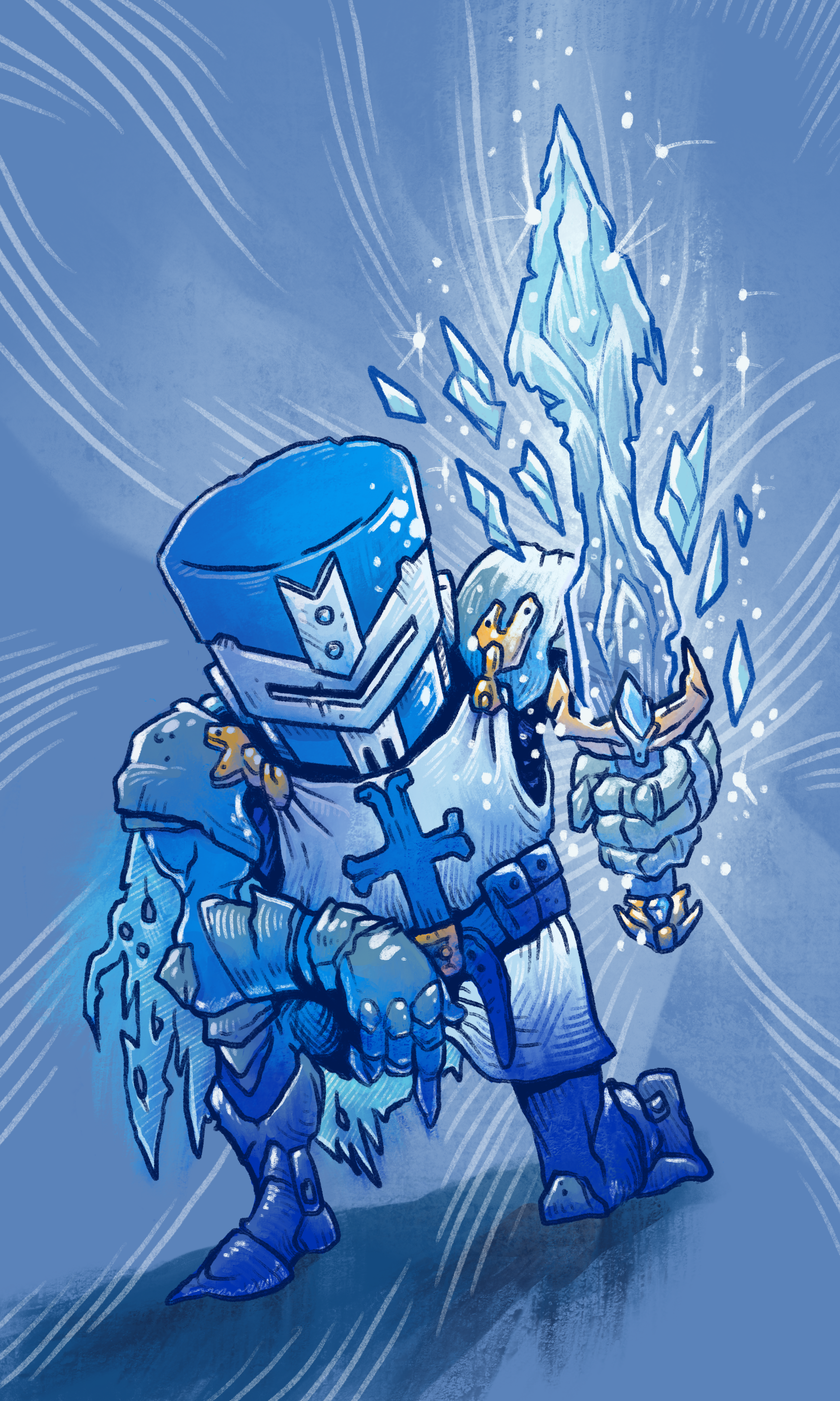 Forged in Ice: Blue Castle Crasher