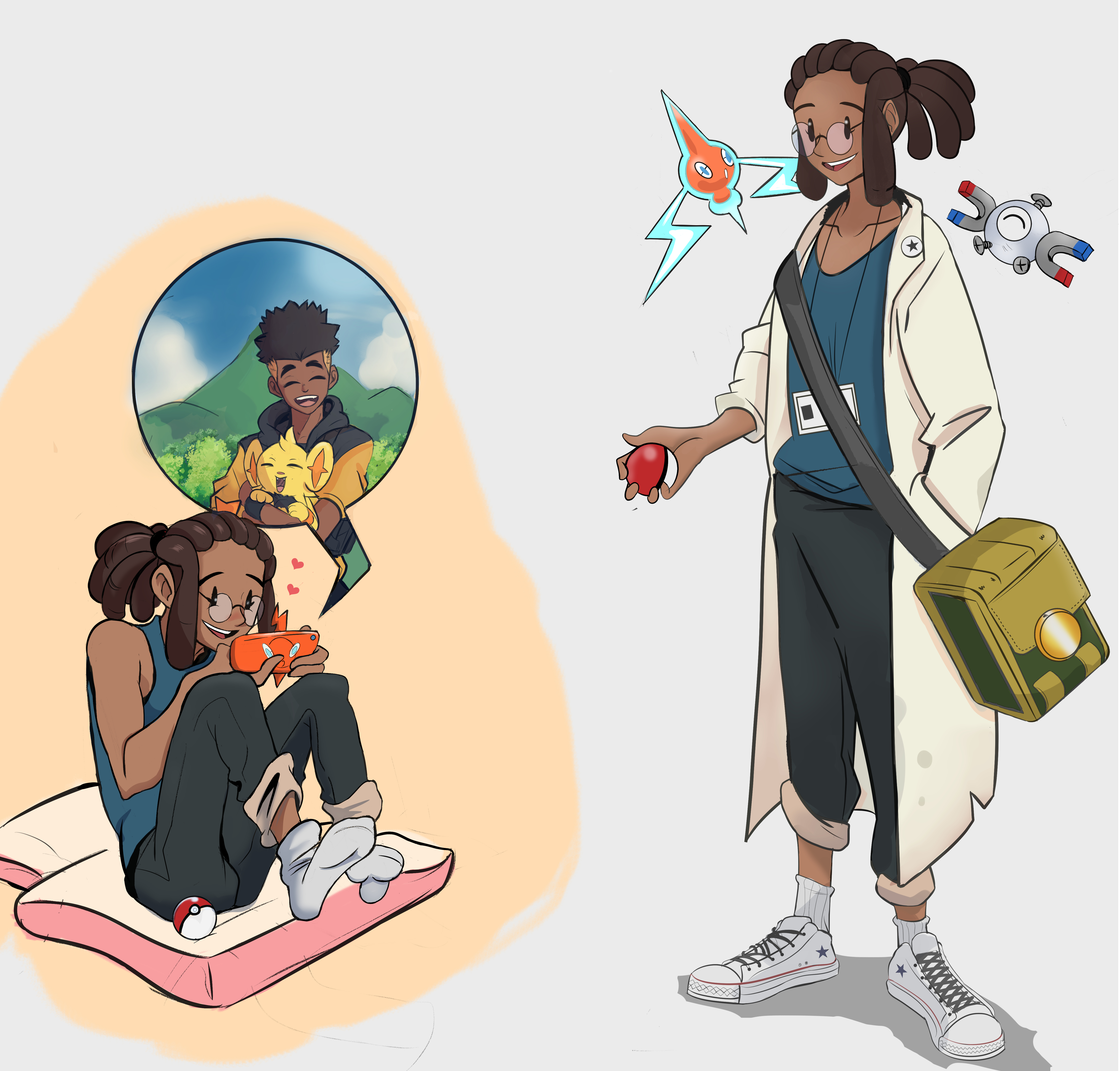 Phebe As A Pokemon Assistant
