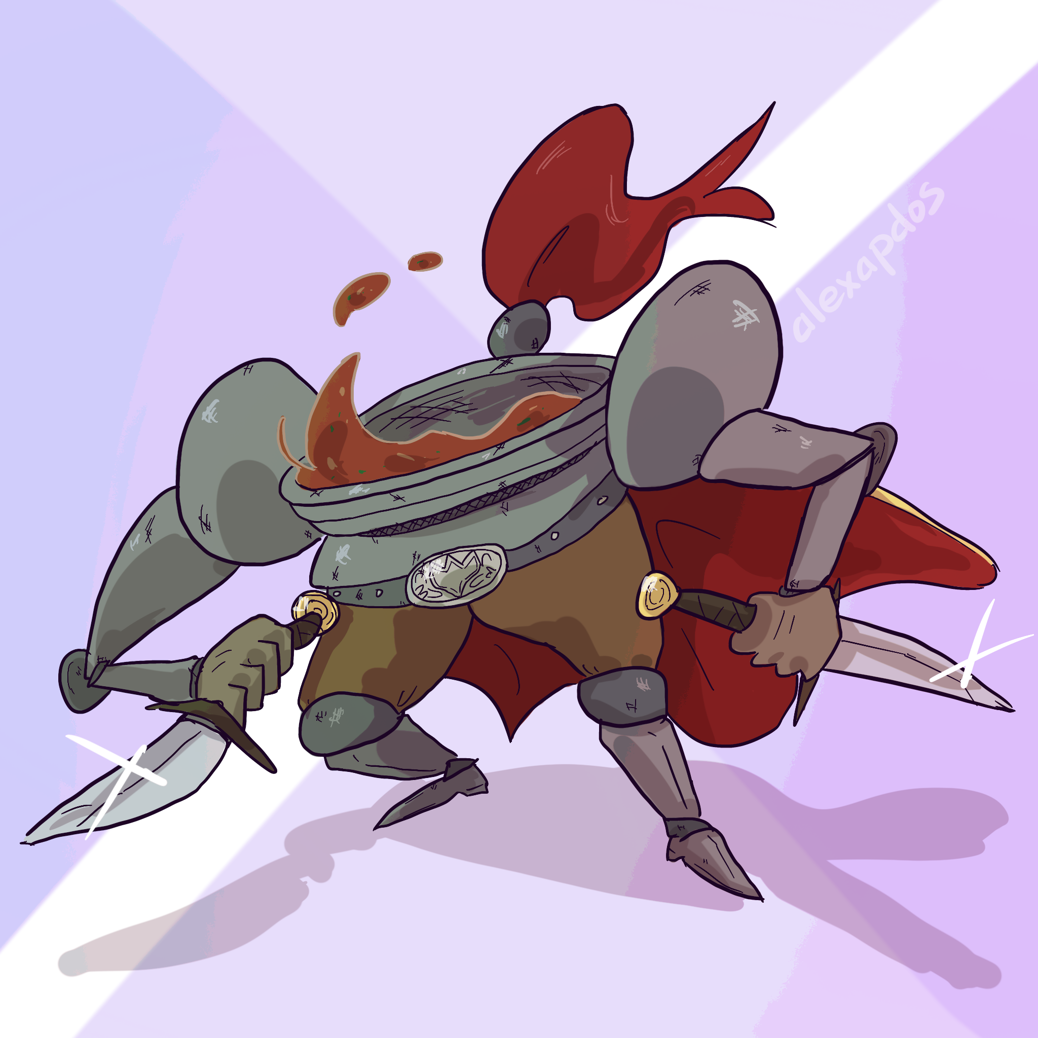 French onion soup knight