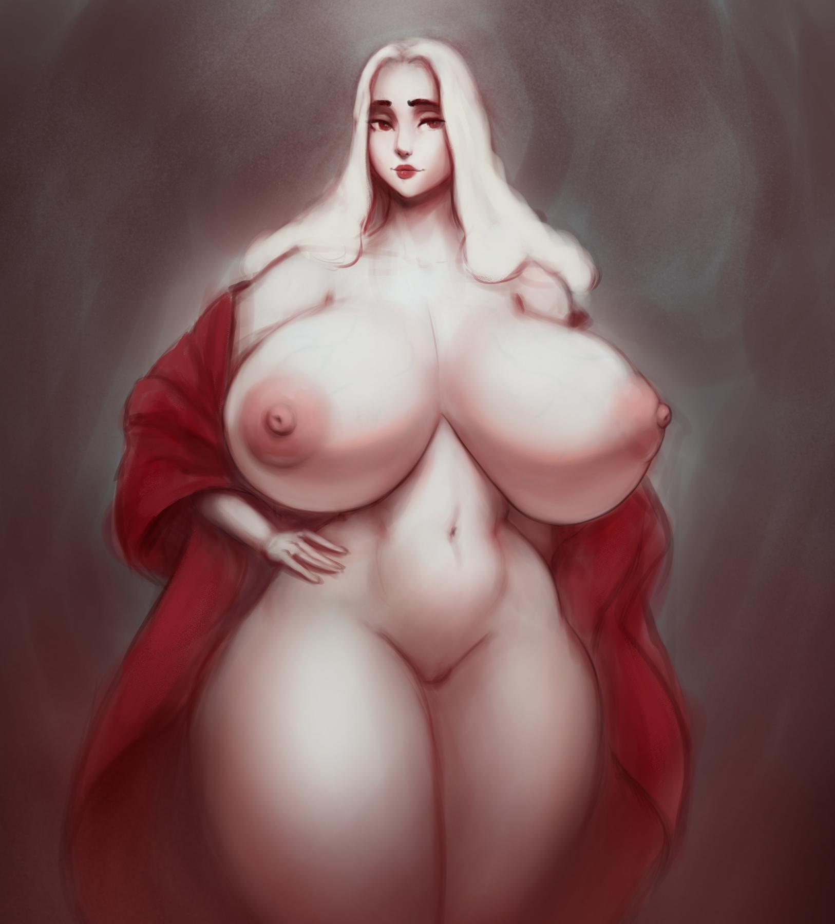 huge pale vampire tits