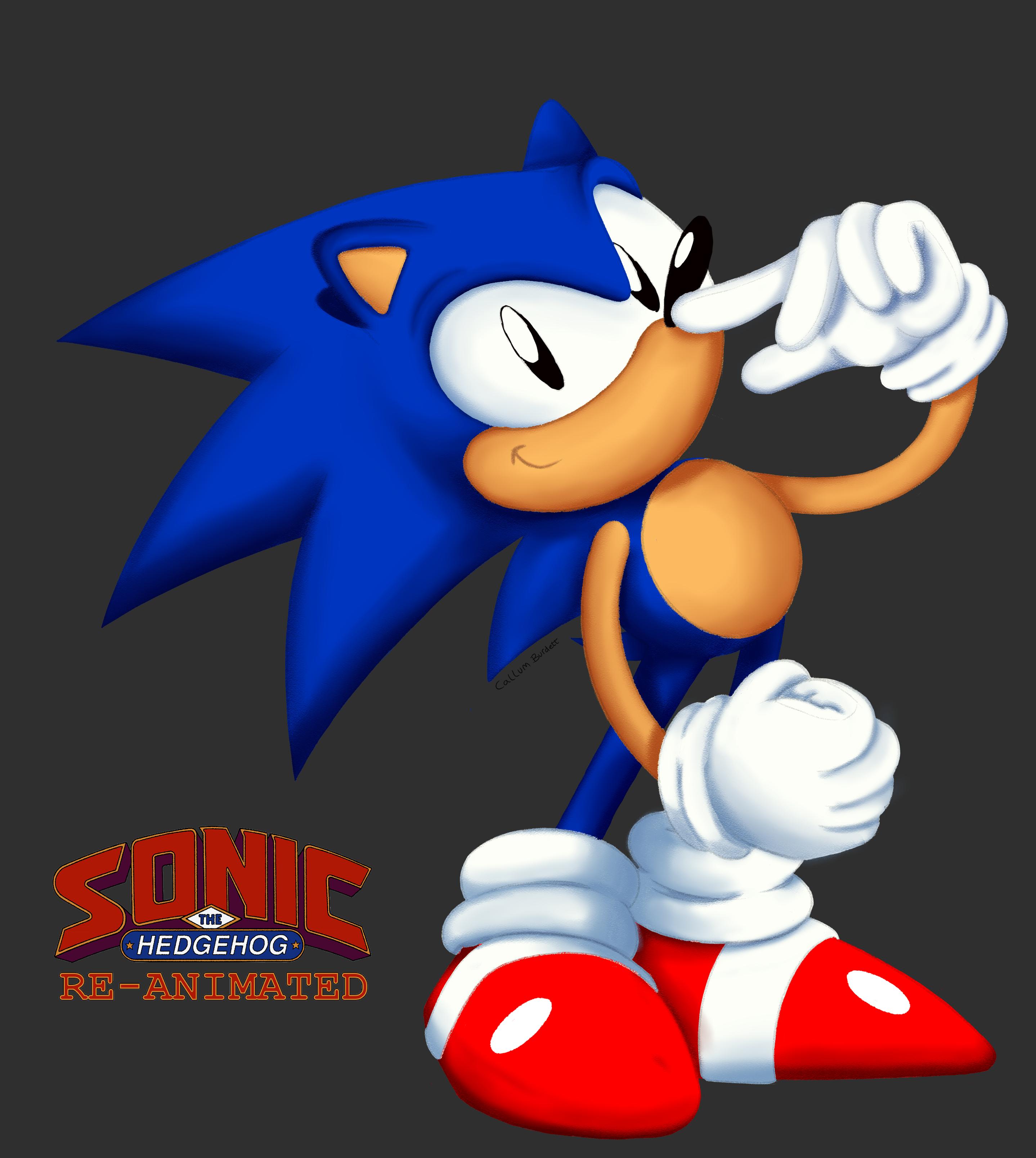 Classic Sonic Render SatAm Reanimated