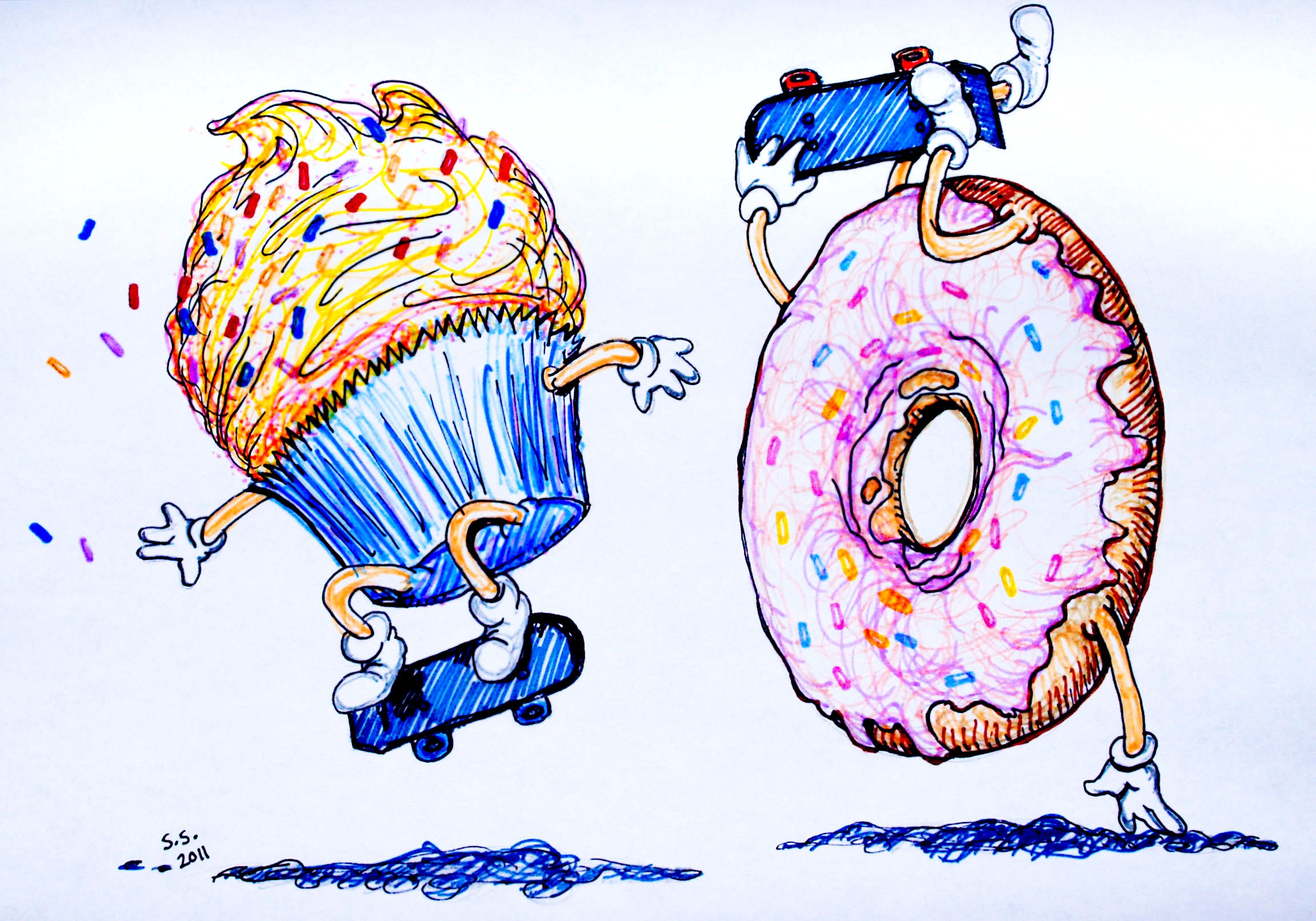 Cupcake and Donut Pushing Wood