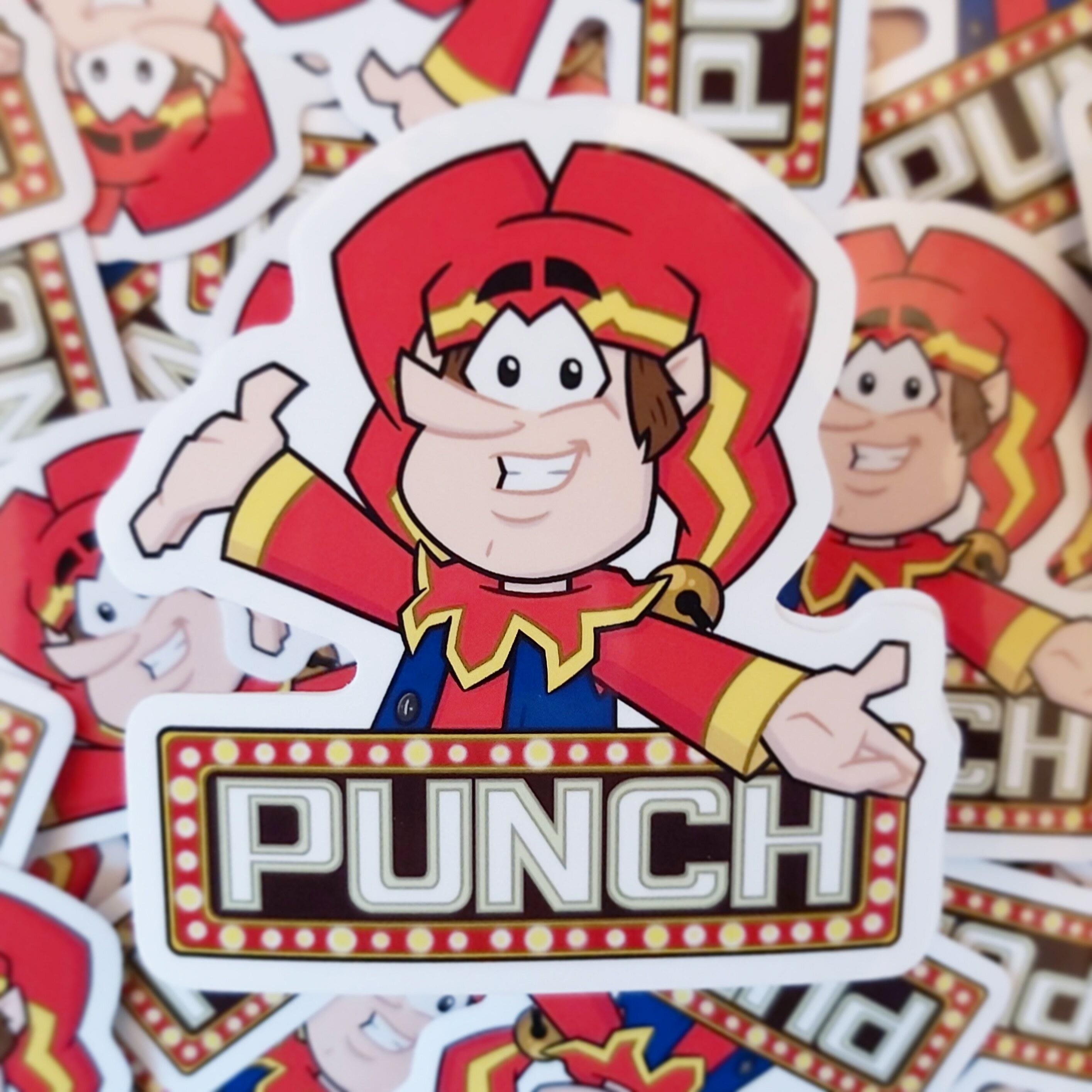 Punch Sticker