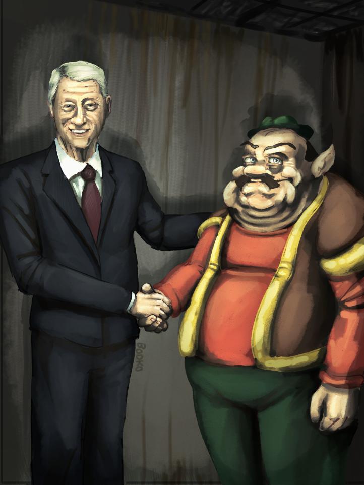 Clinton Greets Morshu