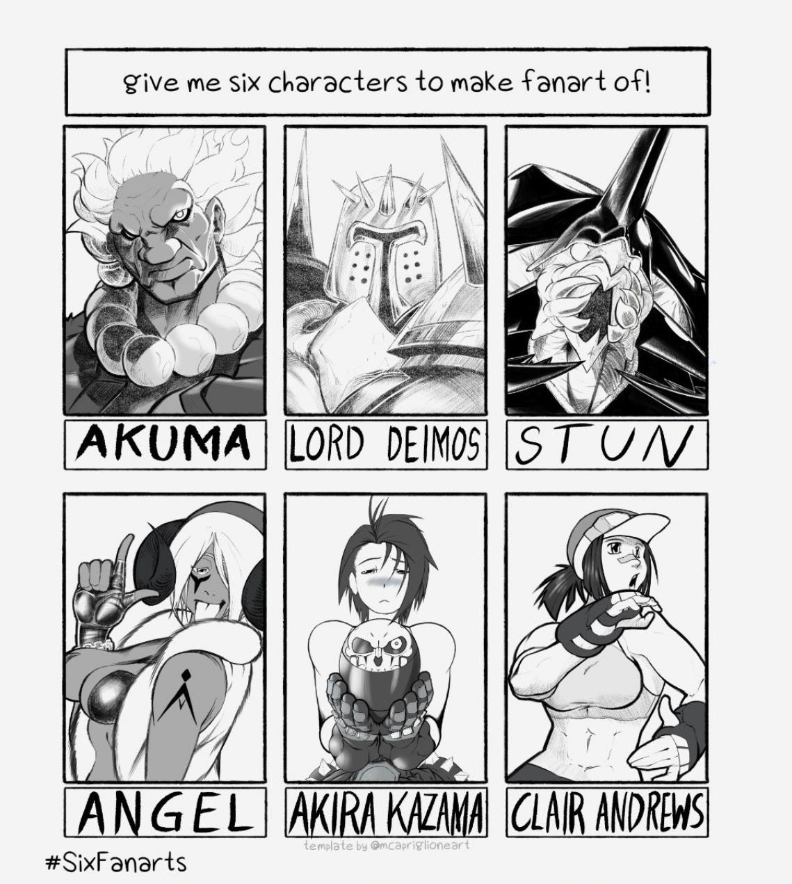 Six Fanarts Meme: Fighting Game Edition!!!