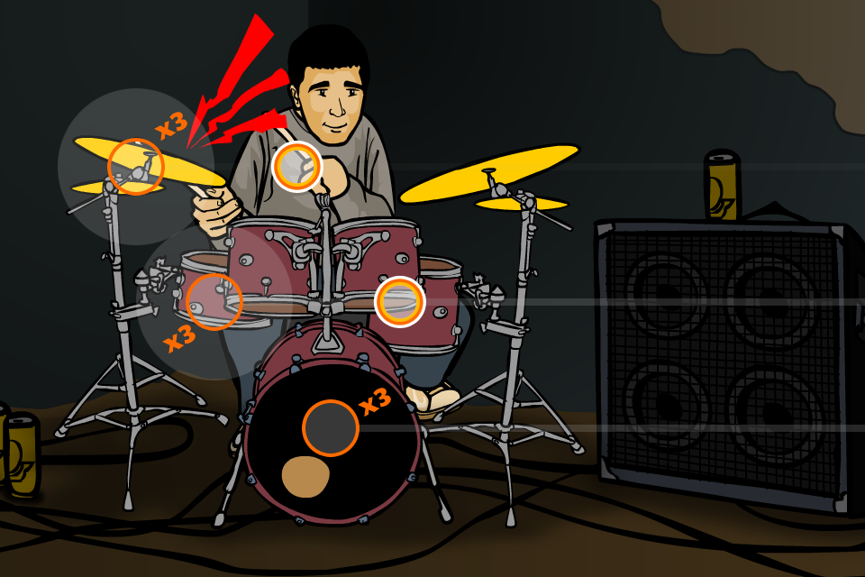 Tap Song Drum Play Screen